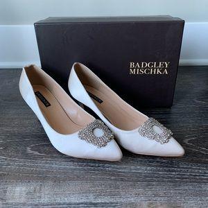 Badgley Mischka Wedding Shoes size 8M